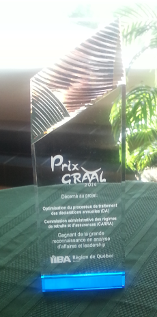 Trophée prix Graal 2014